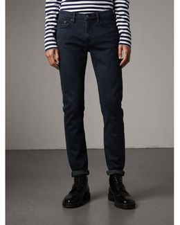 Slim Fit Over-dyed Stretch Jeans