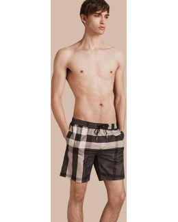 Check Swim Shorts Charcoal