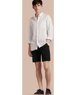 Cotton Poplin Chino Shorts Black