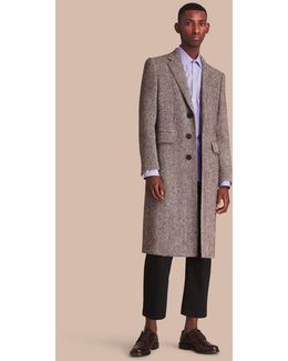 Donegal Herringbone Wool Topcoat |