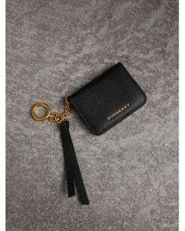 Grainy Leather Id Card Case Charm