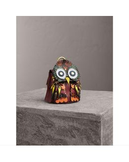 The Owl – Leather And Snakeskin Coin Case |