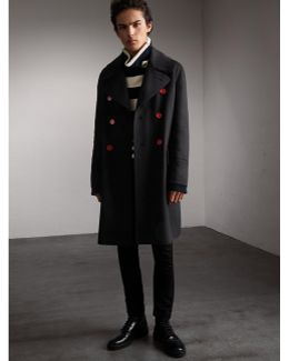 Resin Button Wool Greatcoat  