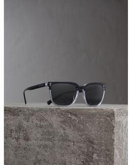 Square Frame Sunglasses In Black |
