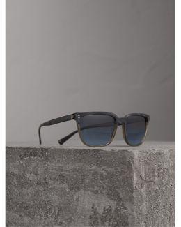 Square Frame Sunglasses In Navy |