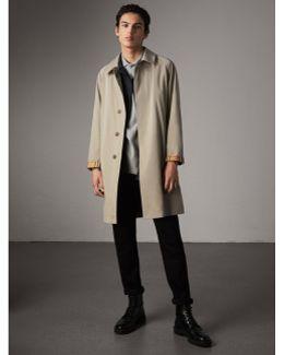 The Camden - Long Car Coat In Sandstone - Men  