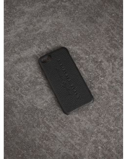 London Leather Iphone 7 Case In Black | Burberry