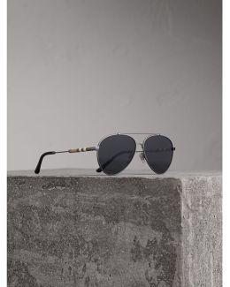 Check Detail Pilot Sunglasses In Black |