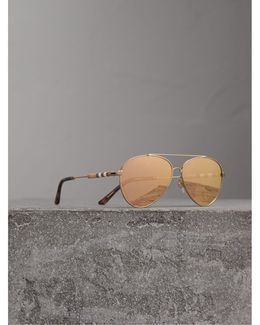 Check Detail Pilot Sunglasses In Rose Gold |