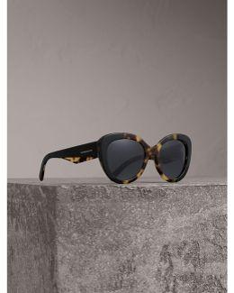 Round Frame Sunglasses In Black |