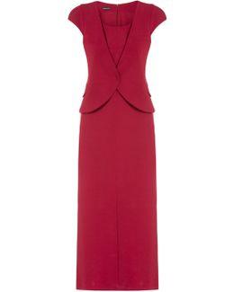 Waistcoat Wrap Front Dress
