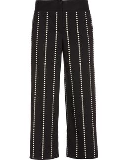 Resin Dome Cropped Wide Leg Pants