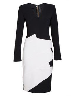 Sanbre Wool Crepe Dress