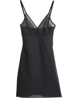 Power Mesh Mini Dress