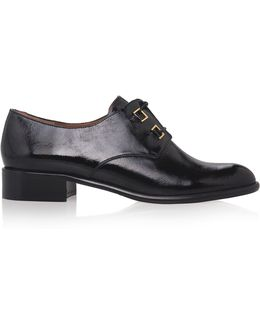 Patent Leather Lace Up Shoes