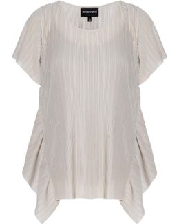Pleated Short Sleeves Top