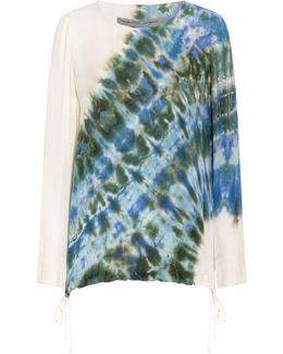 Drawstring Tie Dye Top