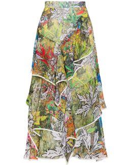 Printed Frill Skirt