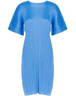 Short Sleeves Pleated Dress