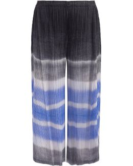 Watery Striped Cropped Pants