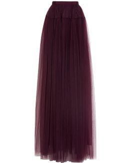 Tulle Maxi Evening Skirt