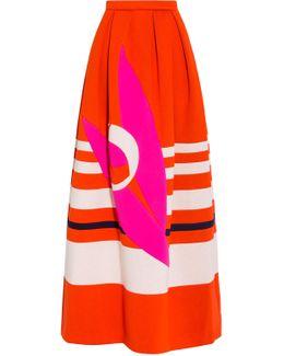 Neoprene Maxi Pattern Skirt