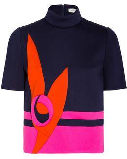 Neoprene Short Sleeve Pattern Top
