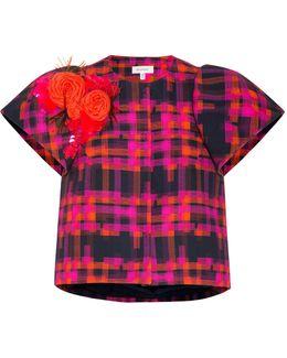 Short Sleeve Plaid Jacket