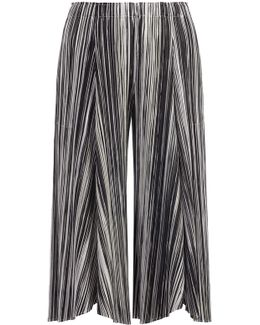 Liquid Stripes Wide Pants