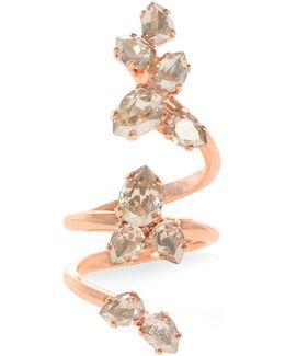 Crystal Triple Wrap Ring