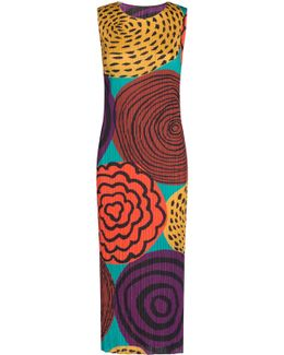 Guru Guru Printed Midi Sleeveless Dress