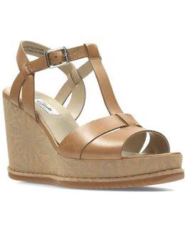 Adesha River Womens Wide Wedge Heel Sandals