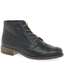 Sienna 15 Womens Brogue Ankle Boots