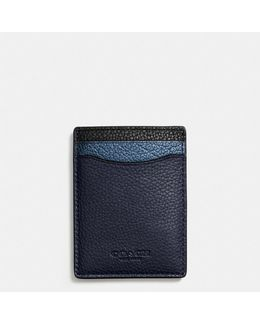 3-in-1 Card Case In Metallic Leather
