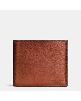 3-in-1 Wallet In Metallic Leather