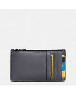 Zip Card Case In Sport Calf Leather