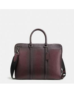 Metropolitan Slim Brief In Burnished Crossgrain Leather