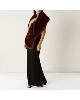 Sadah Faux Fur Cover Up