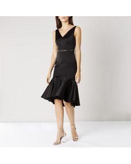 Ryanna Peplum-Hem Dress