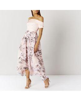 Yaya Bardot Maxi Dress