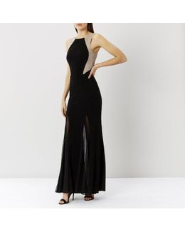 Bia Sequin Jersey Prom Maxi