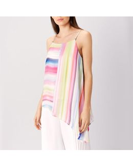 Antigua Stripe Asymetric Top