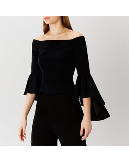 Bay Bell Sleeved Bardot Top