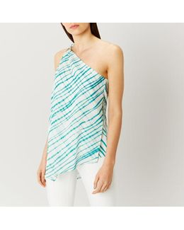 Montego One Shoulder Print Top