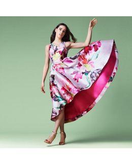 Bickham Floral High Low Dress