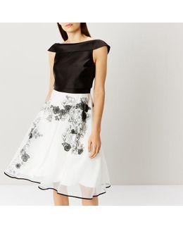 Cici Mono Artwork Dress