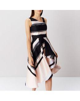 Columbus Stripe Midi Dress