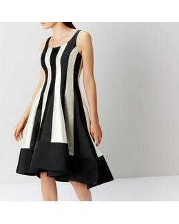 Aria Mono Stripe Dress