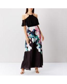 Flamenco Print Maxi Dress