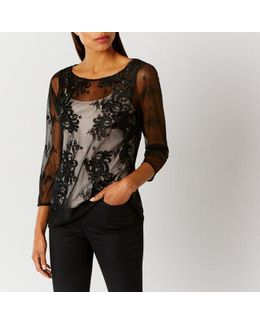 Foxita Lace Mesh Top